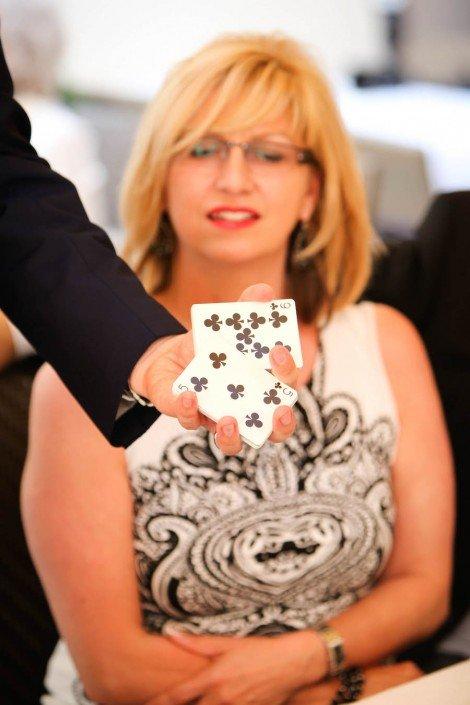 Zaubershow und Close-Up Magie von TOMBECK auf einer Hochzeit
