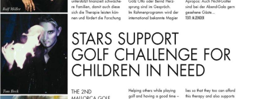 Zauberer TOMBECK unterstützt 2. Mallorca Golf Challenge