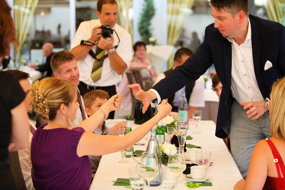 TOMBECK verzaubert 2014 die Gäste auf einer Hochzeit