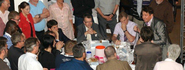 Close up Zauberer TOMBECK bei einer Feier der Firma Siemens in München