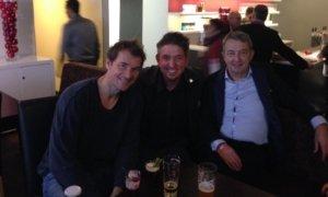 Zauberkünstler TOMBECK mit Jens Lehmann und Wolfgang Niersbach in München
