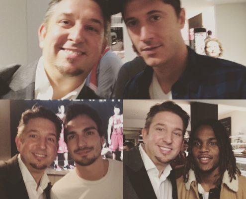 Zauberer TOMBECK zauberte für Matts Hummels, Renato Sanches und Robert Lewandowski vom FC Bayern München