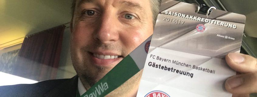 Zauberer TOMBECK in der Allianz Arena beim FC Bayern München